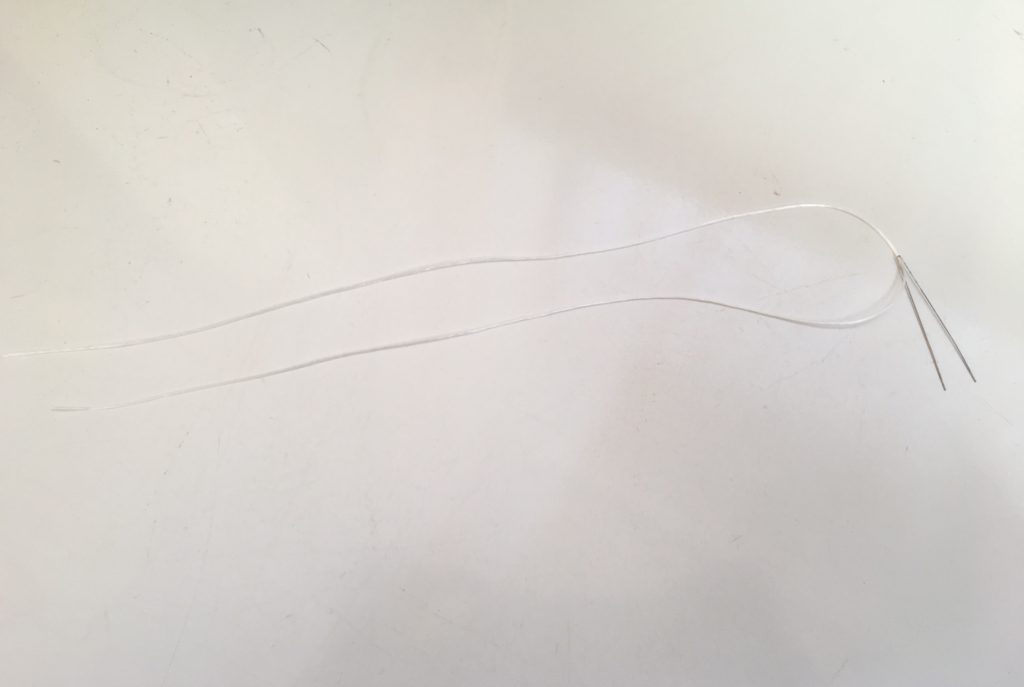 ゴム通し針金 釣り糸(ライン) CHROME HEARTS BRACELET BEAD 6MM ホワイトジェイド 翡翠 ビーズブレス
