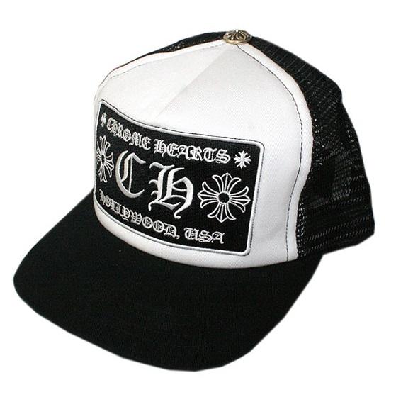 クロムハーツ 帽子 トラッカーキャップ ブラック/ホワイト