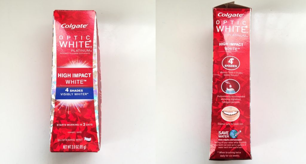 パッケージ コルゲート オプティックホワイト「ハイインパクト」 歯磨き粉 ホワイトニング
