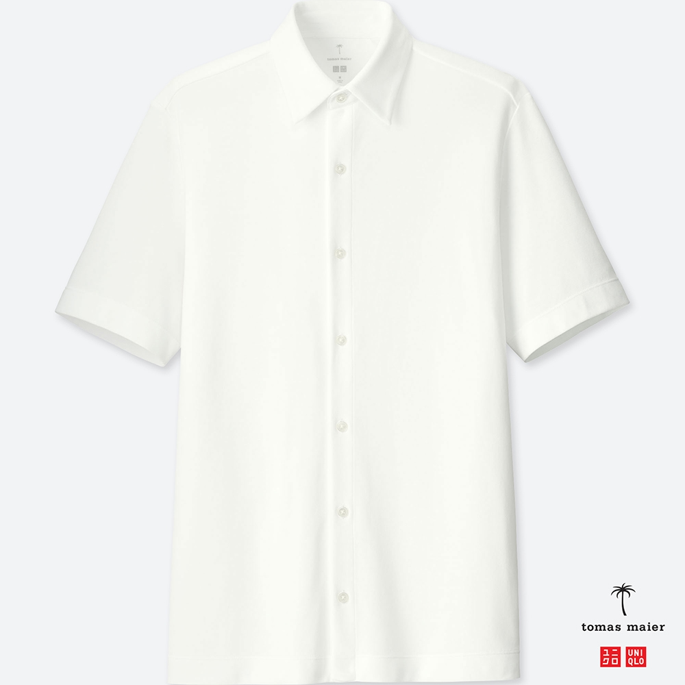 UNIQLO エアリズムポロシャツ(半袖) tomas maier 前開きポロ ビジネス メンズ ホワイト 白