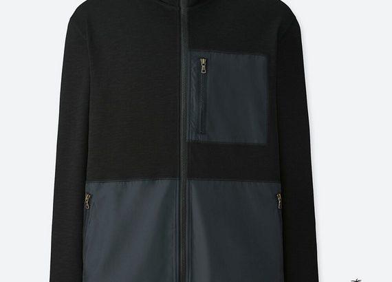 UNIQLO エアリズムスタンドジャケット tomas maier メンズ ブラック 黒