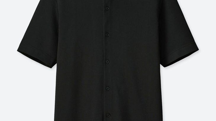 UNIQLO エアリズムポロシャツ(半袖) tomas maier 前開きポロ ビジネス メンズ ブラック 黒