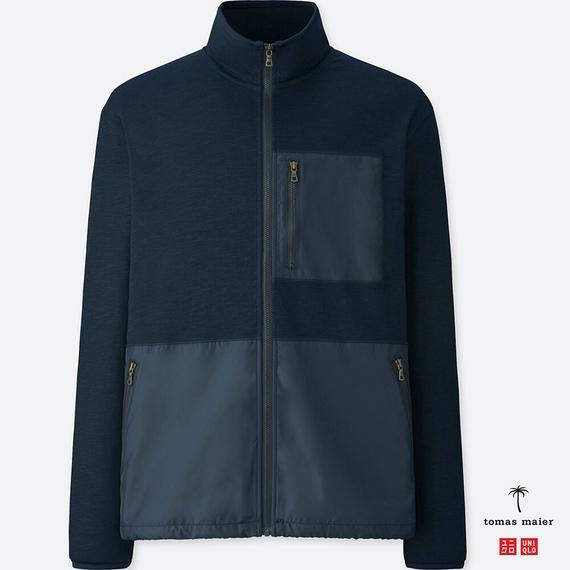UNIQLO エアリズムスタンドジャケット tomas maier メンズ ネイビー 紺