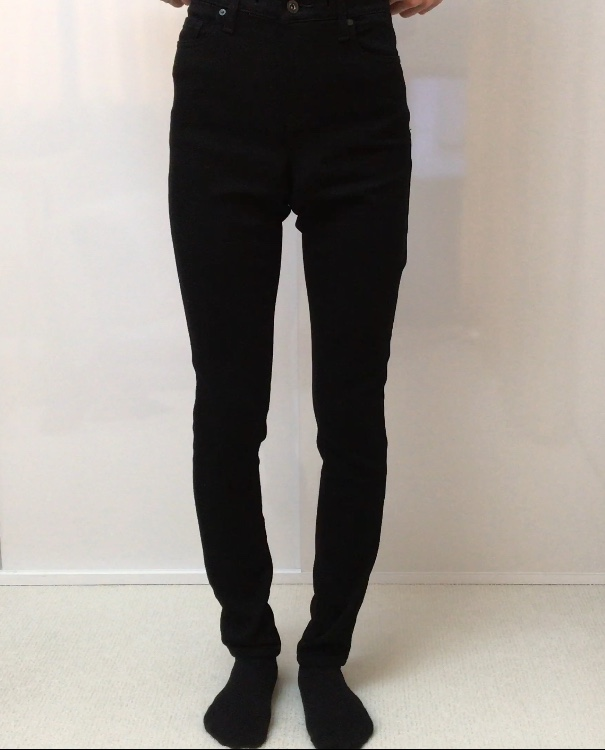 EZYジーンズ 裾上げ 購入品 ユニクロ デニム XS S 比較 イージーデニム